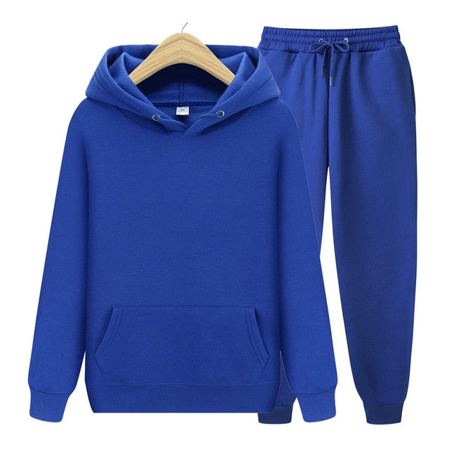 Men's Sets Hoodies+Pants Autumn Winter Hooded Sweatshirt Sweatpants Fashion Slim Fit Men Set Hoodie Pant Hip Hop Pullover Hoody