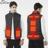 DiiWii Men Autumn winter Smart heating Cotton Vest USB Infrared Electric Heating Vest Women Outdoor Flexible Thermal Warm Jacket