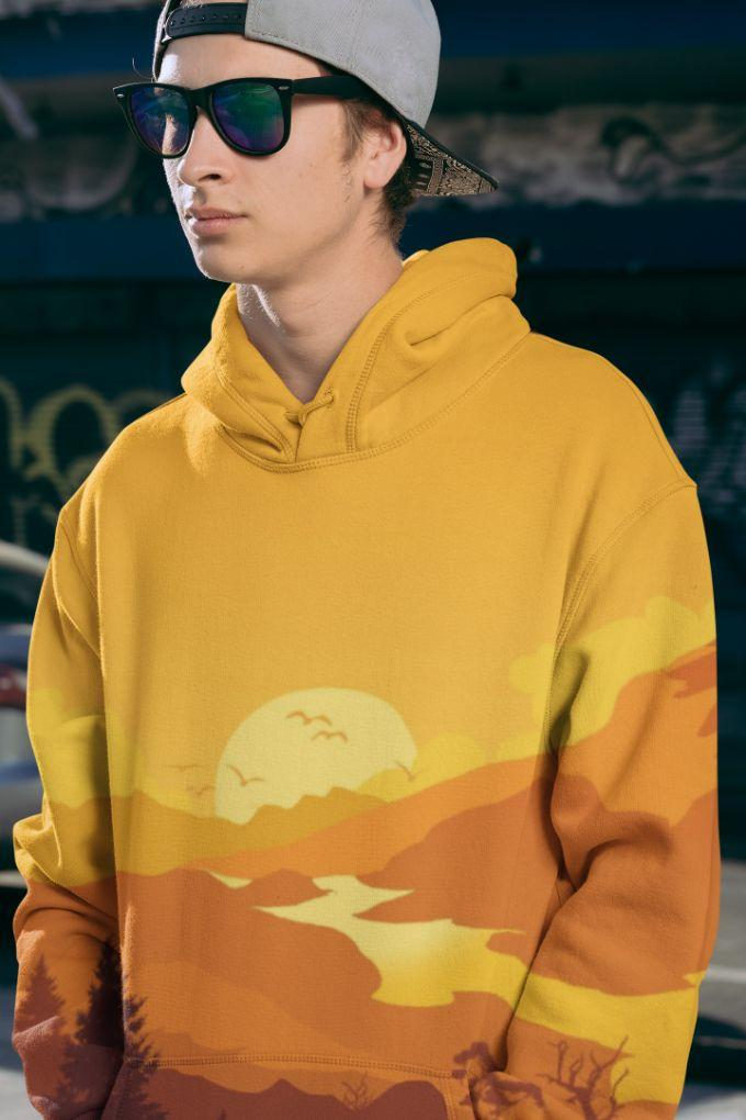 Lidcomo Men Sublimation Hoodie