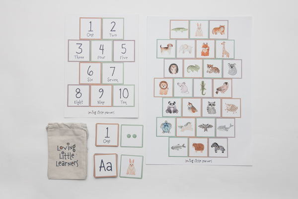 123 ABC Flash Card matching pack