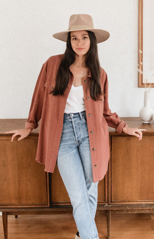 Guide Jacket Gentle Fawn Cotton Shacket Canadian Fashion Trend