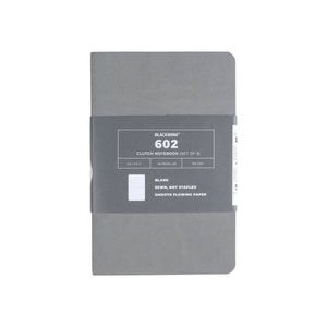 Blackwing Clutch 602 Gray Notebooks (Set of 3) - Ruled Pages