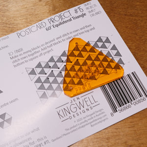 Postcard Project #15: 60 Degree Triangle from Jen Kingwell Designs