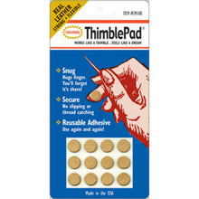 Load image into Gallery viewer, Adhesive Leather Thimble Pad by Colonial