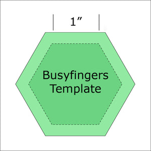 "1"" Hexagon Template from Busyfingers"