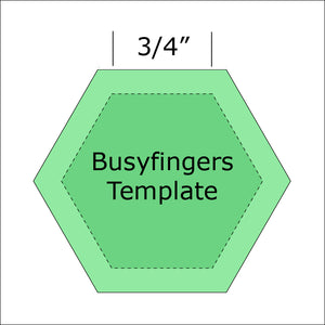 "3/4"" Hexagon Template from Busyfingers"