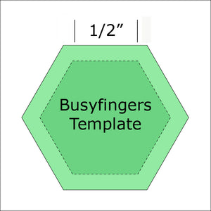 "1/2"" Hexagon Template from Busyfingers"