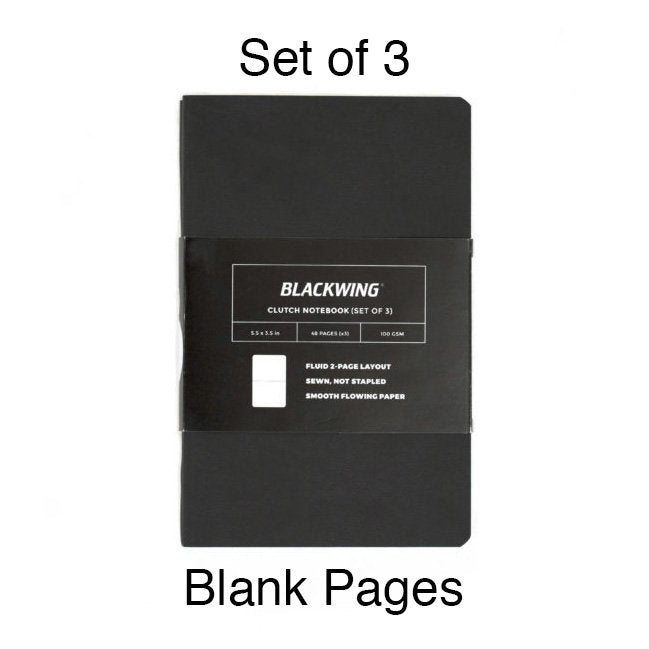 Blackwing Clutch Notebooks (Set of 3) - Blank Pages