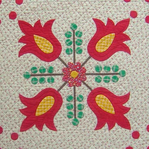 Cinnamon Stitches - Block 7 Tulips & Berries - Digital Download
