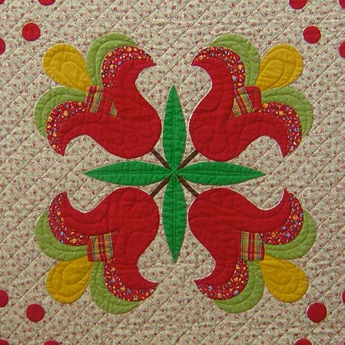 Cinnamon Stitches - Block 12 Tasseled Tulips - Digital Download