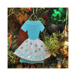 Glitter Dress Ornament Free Digital Download