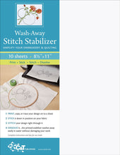 Load image into Gallery viewer, Wash-Away Stitch Stabilizer