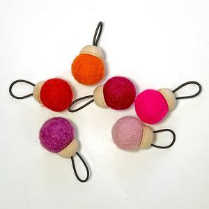 Wool Pin Cushion Ring in Warm Colors