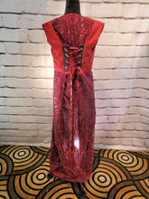 Load image into Gallery viewer, Red Glitter Lace WhmZcoat for Steampunk, Fairy, or Cosplay