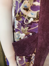 Load image into Gallery viewer, Asian Flowers and Ships on Purple Plus Size WhmZcoat: Plus Size