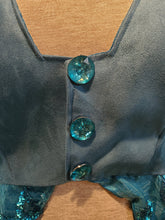 Load image into Gallery viewer, Turquoise Sequin Light Catching WhmZ : Plus Size