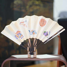 Load image into Gallery viewer, [Hand Fan] Decorative Fan Itome Yuzen Set Corner | Edo Folding Fans