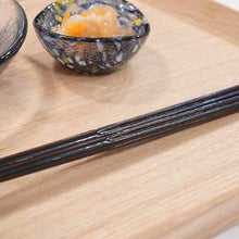 Load image into Gallery viewer, [Chopsticks] Modern Hanataba Urushi Black | Wakasa Lacquerware