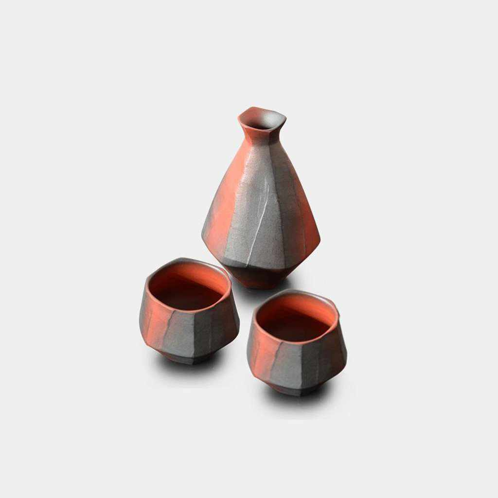 [Sake Bottle] Sake Bottle (3-Piece Set) | Pottery and Porcelain