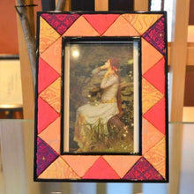 Load image into Gallery viewer, [Picture Frame] Wood Photo Frame (Orange & Pink) | Edo Art Dolls