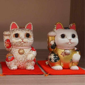 [Beckoning (Lucky) Cat] Maneki Neko (Extra Large) Gold | Edo Art Dolls