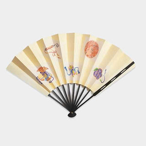 [Hand Fan] Decorative Fan Itome Yuzen Set Corner | Edo Folding Fans