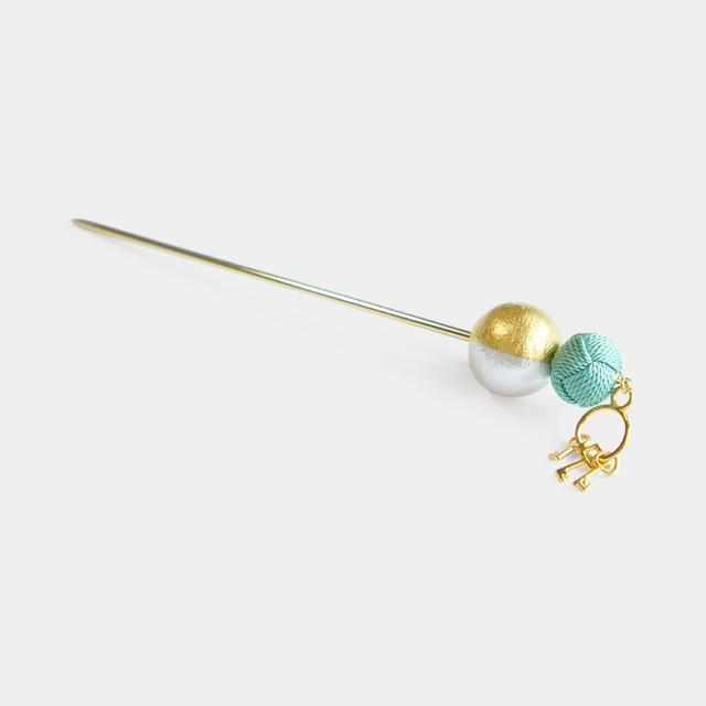 [Hair Stick] Kagaseo Kanzashi (Green) | Kumihimo Braids