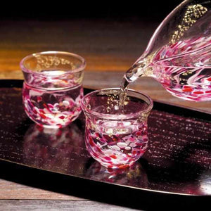 [Sake Bottle] Flower Raft Flower Raft Sake Set | Tsugaru Vidro