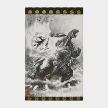 Load image into Gallery viewer, [Wall Scroll (Hanging Scroll)] Gamera Flame Fist A3 Standing | Wall Scroll (Hanging Scroll)