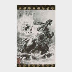 [Wall Scroll (Hanging Scroll)] Gamera Flame Fist A3 Standing | Wall Scroll (Hanging Scroll)
