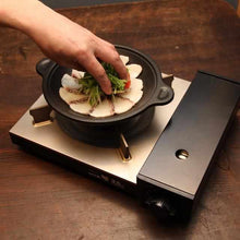 Load image into Gallery viewer, [Cooker (Pot)] Homusubi Charcoal Plate Grill Without A Handle (Direct Fire & IH) | Carbon Processing