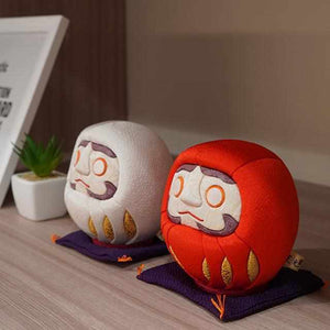 [Daruma (Doll)] Edo Daruma (Large) Yuzen Red And White | Edo Art Dolls
