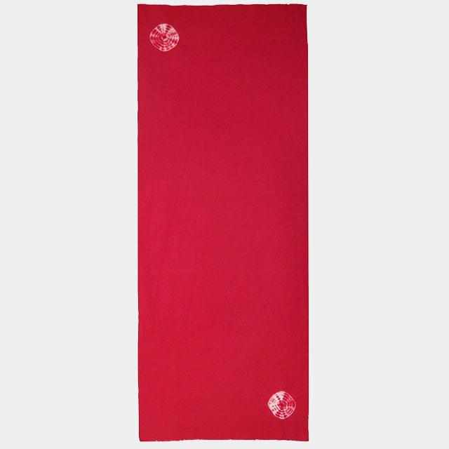 [Towels] Umbrella-Wrapped Towel (Red And Red) (With Cosmetic Box) | Kyoto Kanoko Shibori