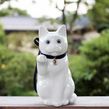 Load image into Gallery viewer, [Beckoning (Lucky) Cat] Kata Koto Maneki Neko White | Hizen Yoshida Wares
