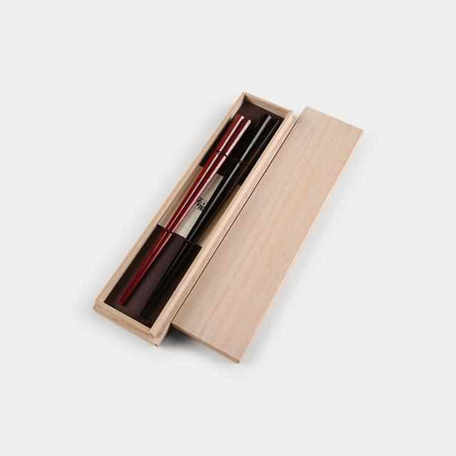[Chopsticks] Wakasa-Nuri Chopsticks Couple Chopsticks Octagonal Chopsticks Pair | Wakasa Lacquerware