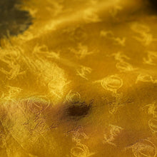 Load image into Gallery viewer, [Stole] Tamanori monkey-mon Yellow | Tie Dyeing