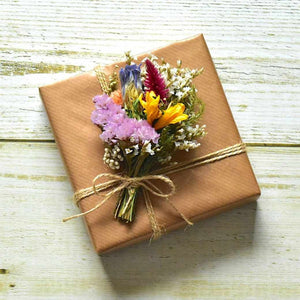 [Wrapping Paper] Flower Box Brown | Wrapping