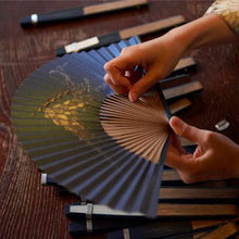 Load image into Gallery viewer, [Hand Fan] Fragrant Fan Utsushi Incense Moon Kage X Sandalwood Incense | Kyoto Folding Fans