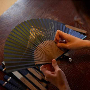 [Hand Fan] Fragrant Fan Utsushi Incense Moon Kage X Sandalwood Incense | Kyoto Folding Fans