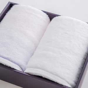 "[Towels] Sarala ""Irodori"" Face Towel Set Of 2 (Pink / White) 
