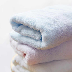 "[Towels] Sarala ""Irodori"" Face Towel Set Of 3 (Blue / White) 