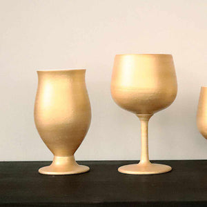 [Cup] Gold Beer Porcelain Glass