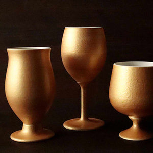 [Cup] Gold Wine Porcelain Glass (Slim)