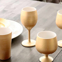 Load image into Gallery viewer, [Cup] Gold Wine Porcelain Glass (Slim)