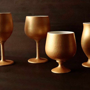 [Cup] Gold Wine Porcelain Glass