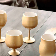 Load image into Gallery viewer, [Cup] Gold Wine Porcelain Glass