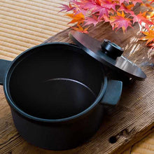 Load image into Gallery viewer, [Cooker (Pot)] Homusubi Cocotte Pot & Lid (Small) Cocotte Mai (Open Fire & IH & Oven) | Carbon Processing