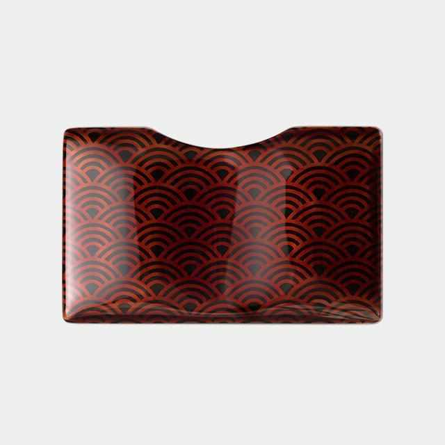 [Wallet / Bag] Urushi Business Card Holder Vyac Card Case Qinghai Wave | Echizen Lacquerware