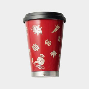 [Tumbler / Water Bottle] Thermo Mug Urushi Mobile Tumbler Treasure Exhaustion (Red) | Echizen Lacquerware