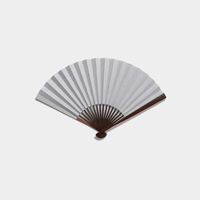 [Hand Fan] Man Mochi Shark Komon Rusted Zhu Karaki Bamboo | Edo Folding Fans